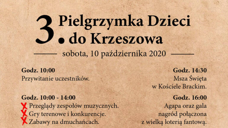 3. Pielgrzymka dzieci do Krzeszowa